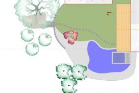 Grundriss CAD-Plan - Privatgarten in Ettiswil