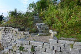 Maggia-Gneis Trockensteinmauer