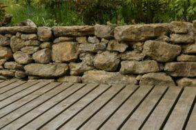 Kalksteinmauer